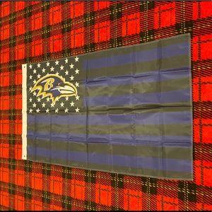 Brand new Baltimore Ravens banner flag